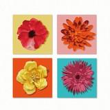 Flower Motif Fabric Panel Set