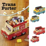 【即納可能】トランスポルテ ペーパーボックス バス (S)/(L)【キッズ】【ギフト】【収納】