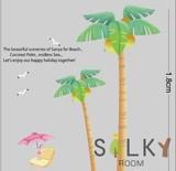 超BIGサイズ!【ヤシの木とかもめ】ウォールステッカー/自然/草/植物/木の葉新生活