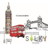 【I Love London】ウォールステッカー/建物新生活