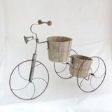 【ガーデン用品・プランター】<自転車風プランター>Barrel トライシクル Planter