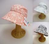 小花柄プリントのUVつば広帽子<2color・UV対策・日焼け対策・日本製・手洗い可>