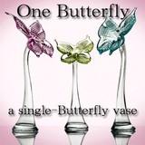 【イタリア製花器】 ONE バタフライ型の花器 (3色)【在庫限品】