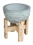 【キッチン】【ディスプレイ】石臼・木製台セット/杵【大/小】<餅つきうす/キネ>正月準備・イベントに
