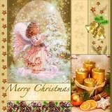 Maki  ペーパーナプキン クリスマス <天使×キャンドル>