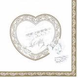 Paper Napkin Wedding Heart Score