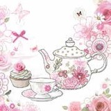 Paper Napkin Tea Pot Flower