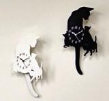 【人気のネコちゃんモチーフ♪】スロー振子時計Cat