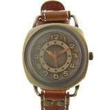 【本革】大き目文字盤腕時計<アンティークシリーズ>