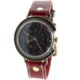 【本革】ステッチ入り腕時計<アンティークシリーズ腕時計>