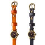 【本革】丸いフェイスの2WAY腕時計<アンティークシリーズ>