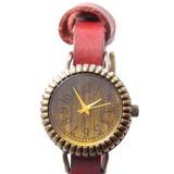 【本革】ビビッドカラー2WAY腕時計<アンティークシリーズ>