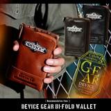 お財布にもカッコよさを!!DEVICE gear 二つ折り財布 本革 メンズ ブランド