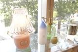 【美しいシェードのシルエットが印象的】【アロマランプ】ホワイト/ピンク/アンバー