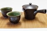 【有田焼】黒釉 茶の間揃(楽)