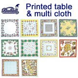 PRINTED TABLE & MULTI  CLOTH