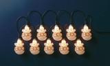 【ハロウィン雑貨/装飾品】 オーナメントライト10球(ゴースト) [ガーランド ライト/イルミネーション]