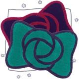〈バラ+リボン〉可愛いデザインのフリーマット★-プレミオ-★