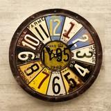 Wall Clock Antique Emboss Clock