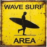 アンティークエンボスプレート[Wave Surf]