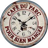 ヨーロピアンオールドメタルクロック CAFE DU PARC