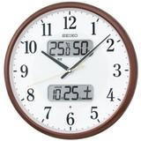 新品!セイコー電波掛時計  カレンダー、温度・湿度表示つき KX383B