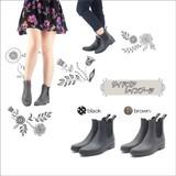 ☆モンフレールのレインブーツ/防水/台風/梅雨/長靴/サイドゴア/ファッションレイン