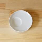 【有田焼】白磁 丸型 しょうゆのすべり台 (小皿)