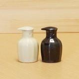 【有田焼】白マット/黒陶  面取 楽らくしょうゆさし