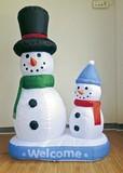 【春の大感謝祭セール!】【クリスマス】【エアブロー】親子スノーマン