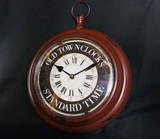 Antique Red Wall Clock