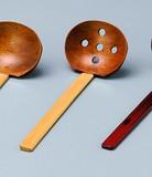 [木製品の特価商品]『超特価』■【漆器/キッチンツール】穴あきお玉