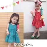 キッズ 女の子 ドット ワンピース /Girl,Dot One Piece Dress