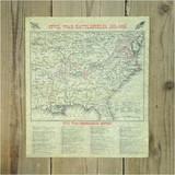 デニックス ポスター 南北戦争戦場マップ