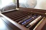 【Wooden Pen Case】木製ペンケース12本用 拡大して質感をご覧ください 万年筆のコレクションなどに