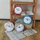 4色展開 色目がかわいいシンプルなアラームクロック 時計(置・掛)