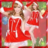 0911リボンサンタコスチューム3点セットクリスマス