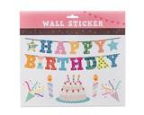 ウォールステッカー (SS) ハッピーバースデー  (インテリアシール/壁紙/模様替え)☆Wall Sticker☆
