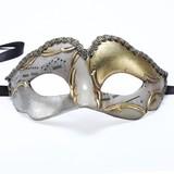 イタリア製 ベネチアン カーニバルマスク♪ キッズ 用イリス【Iris】シルバー&ゴールド 子供用