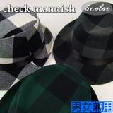 【値下げ!】チェックマニッシュ<3color・男女兼用・トレンド>