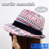【値下げ!】ノルディック雪柄のマニッシュ<3color・男女兼用・トレンド>