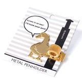 【かわいい動物たちがペンをキープ】メタルペンホルダー・アニマル