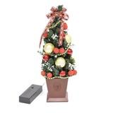 【デザインポットツリーレッド】クリスマス雑貨 サンタ トナカイ ツリー