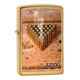 ZIPPO 銃弾 ブラッシュドブラス 28674