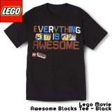 【T】Lego Movie Awesome Blocks Tee - Black/ レゴ ムービー グラフィックTシャツ ブラック