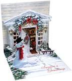 UP WITH PAPER トリンケットカード 立体仕様 クリスマス <スノーマン>