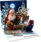 UP WITH PAPER トリンケットカード 立体仕様 クリスマス <サンタ×プレゼント>