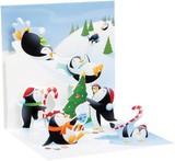 UP WITH PAPER トリンケットカード 立体仕様 クリスマス <ペンギン>