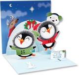 UP WITH PAPERトレジャーズカード 立体仕様 クリスマス <ペンギン>