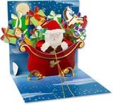 UP WITH PAPERトレジャーズカード 立体仕様 クリスマス <サンタ×プレゼント>